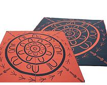 Aboriginal Yarning Circle OrangeBlack