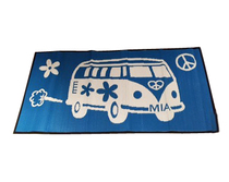 Retro Beach Kombi BlueWhite