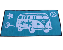 Retro Beach Kombi GreenWhite