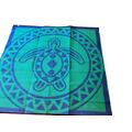 Torres Strait Turtle Circle BlueGreen